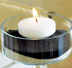 Colored Floating Tealight Candles for Wedding Favors