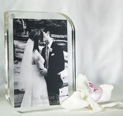 Small Contemporary Acrylic Personalized Picture/ Photo Frame