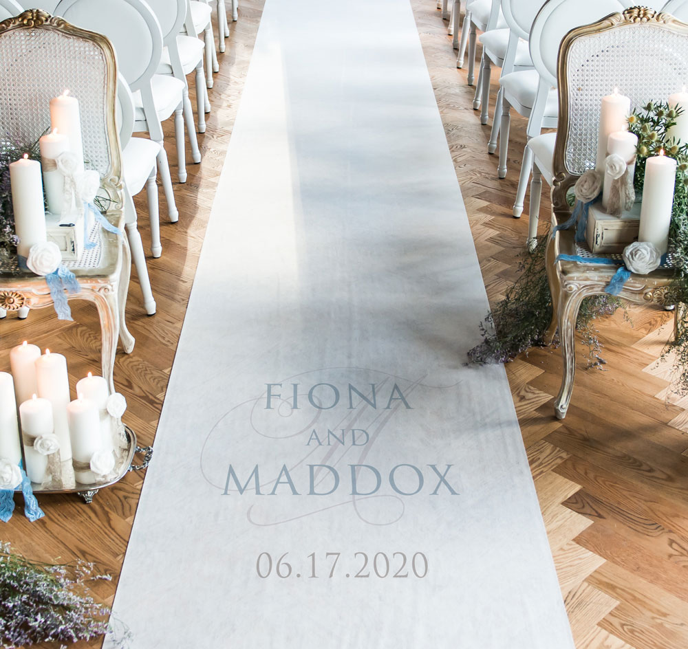 Contemporary Vintage Wedding Aisle Runner Zoom More Images