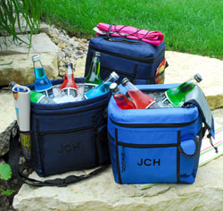 Personalized Cooler Tote with Cell Phone Holder