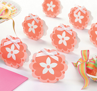 Coral Flower Favor Boxes