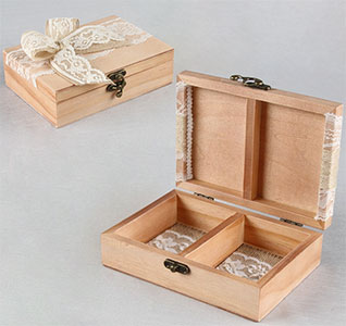 country romance ring bearer box - Wedding Ring Box