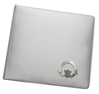 Crystal White Claddagh Wedding Guest Book