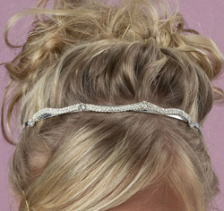 Clear Crystal/Rhinestones Tiara Headband (with hair combs) for Formal Updo