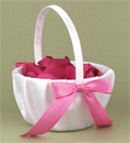 Pink Flower Girl Baskets