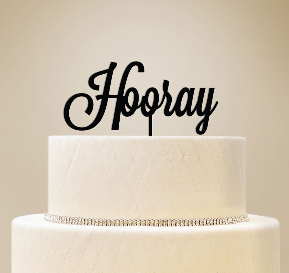 Custom Script Wedding Cake Topper | Wedding Cake Top