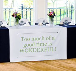 Personalized Custom Wedding Table Runner