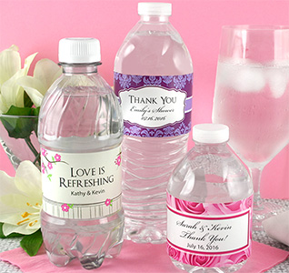 Wedding Water Bottle Labels | Personalized Water Bottle Labels