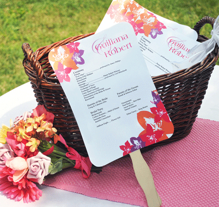 Diy Designer Fan Wedding Program Kit