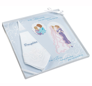 Daughter of the Bride Embroidered Wedding Hankie