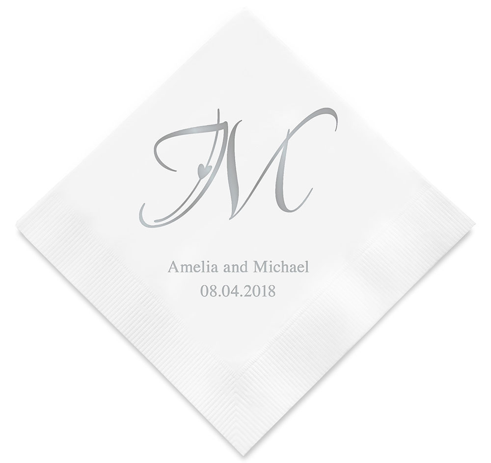 Decorative Initial Wedding Napkins | Personalized Napkins