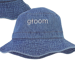 Denim Crusher Hat for Beach Honeymoon - Groom