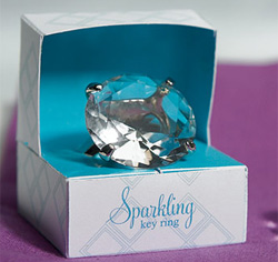 Novelty Wedding Diamond Key Chain in Gift Favor Box