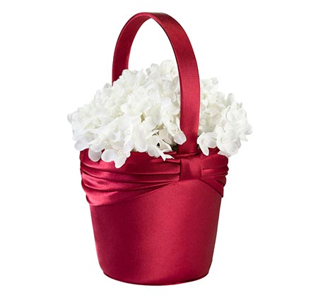 Diamond Red Flower Basket