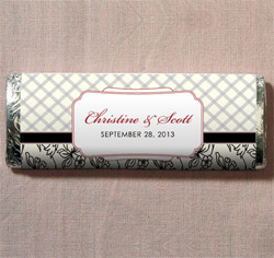 Eclectic Patterns Personalized Wedding Chocolate Bar Favor