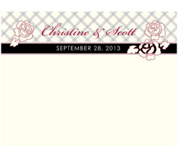 Eclectic Patterns Personalized Wedding Note Cards in Ivory and BlackCard