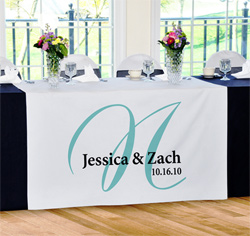 Personalized Elegance Wedding Table Runner