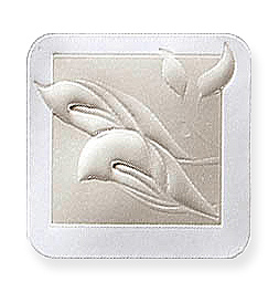 Embossed White/Ivory Silver/Gold Calla Lily Seals for Wedding Invitations