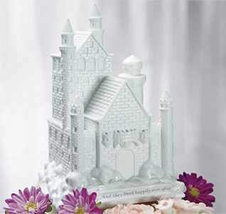 Fairy Tale Dreams Cinderella Castle White Wedding Cake Topper
