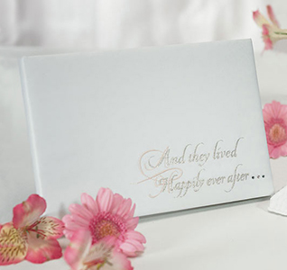 Fairy Tale Dreams White Wedding Guest Book