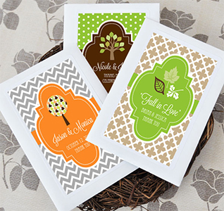 Fall For Love Wildflower Seed Packet Favors