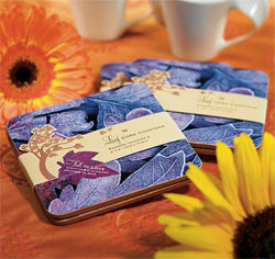 Fall in Love Wedding Favor Table Coasters