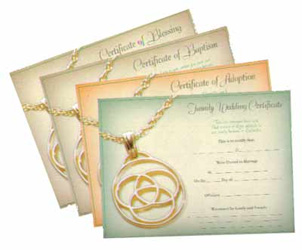 Family Medallion Wedding Family Unity Certificates
