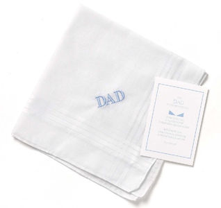 Father of the Bride White Wedding Handkerchief