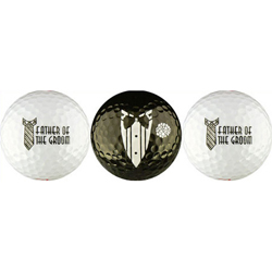 Father of the Groom Wedding Gift Golf Balls
