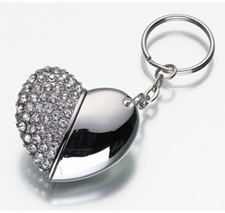 USB Flash Drive Heart Keychain