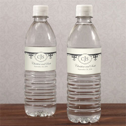 Fleu De Lis Water Label