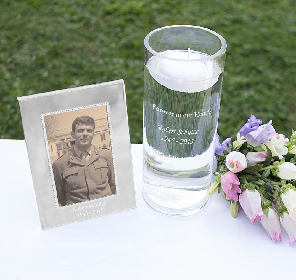 Floating Memorial Candle & Frame Set | Memorial Candle