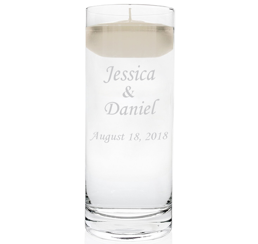 Personalized Floating Unity Candle Vase Personalized Floating Candles