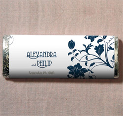 Floral Orchestra Personalized Wedding Chocolate Bar Favor