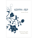 Floral Orchestra Personalized Wedding Wine Label in Navy Blue