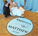Personalized Flourish Wedding Dance Floor Decal