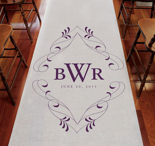 Flourish Monogram Isle Runner