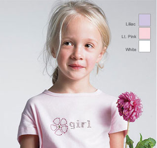 Flower Girl Wedding Transfer for DIY T-Shirt