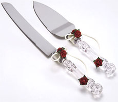 Rose Wedding Cake Serving Set