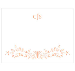 Forget Me Not Personalized Wedding Note Card in Peach