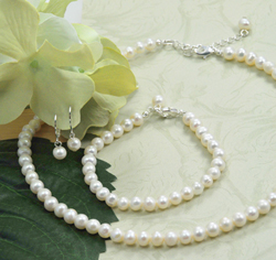 Freshwater 6mm Classic Freshwater Pearl Wedding Jewelry Set