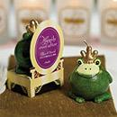 Frog Prince Candle Personalized Wedding Favor