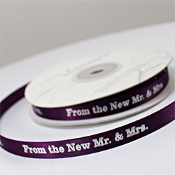 From The New Mr. and Mrs. Favor Ribbon