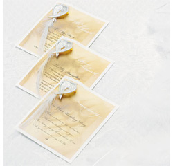 Gifts from the Heart Poetry Card White and Ivory Wedding Favors