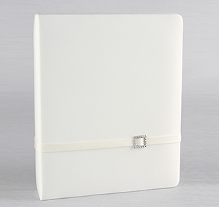 Glamour White or Ivory Wedding Memory Book