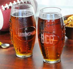 Football Glass Tumblers