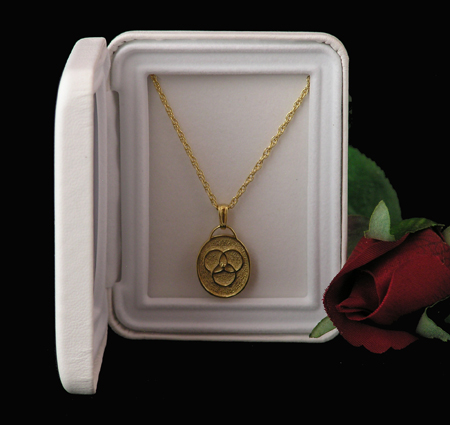 14k Gold Over Sterling Silver Family Medallion