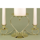 Gold/Brass Unity Candle Holders
