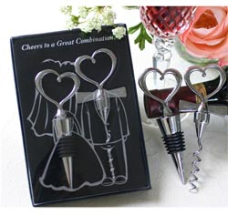Cheers to a Great Combination Wedding or Anniversary Wine Set Bride and Groom