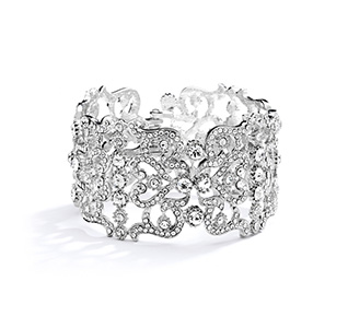 Grecian Style Couture Wedding Or Crystal Cuff Bracelet